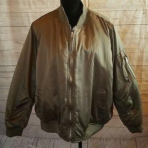 Womens camo puffer army jacket sz 2x
